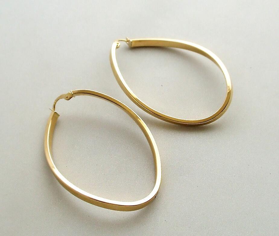 14 karaat geel gouden oorbellen