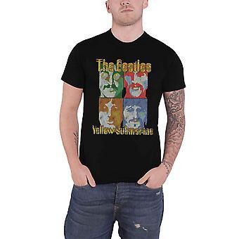 חולצת T החיפושיות הצוללת צהוב ים של מדע להקה הרשמי Mens שחור