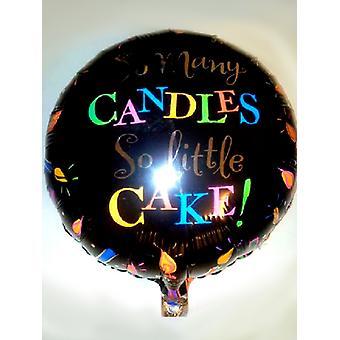 Folie ballong så många ljus så lite tårta på födelsedagen