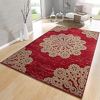 Dentelle de velour concepteur tapis rouge brun | 102417