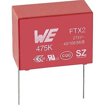 Würth Elektronik WCAP-FTX2 890324025022CS 1 pc(s) X2 suppression capacitor Radial lead 150 nF 275 V AC 10 % 15 mm (L x W x H) 18 x 6 x 12 mm