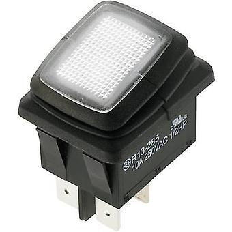 SCI Toggle switch R13-285A8L1-01 250 V AC 10 A 2 x Off/On latch 1 pc(s)
