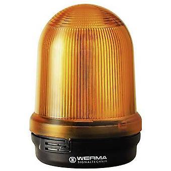 Werma Signaltechnik Light LED 829.350.55 Yellow Non-stop light signal, Flasher 24 V DC