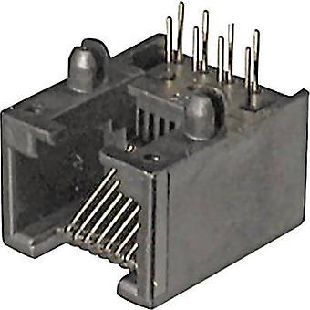 ASSMANN WSW A-20041/LP Mounted Modular Socket 6 RJ12 Socket, horizontal mount Black