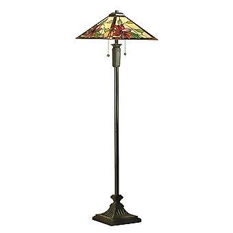 Intérieurs 1900 Lelani Star Flower thème Tiffany lampadaire, Bronze