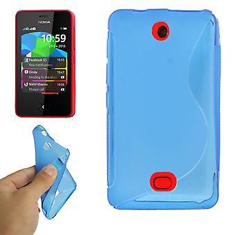 Téléphone mobile protection de coque TPU pour mobile Nokia ASHA 501 bleu