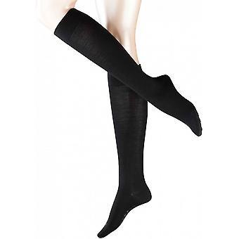 Falke Sensitive Berlin sokken knie hoge - zwart