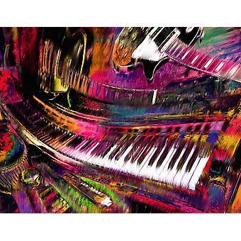 Gitarre Regenbogen Malerei Poster Print von Alixandra Mullins