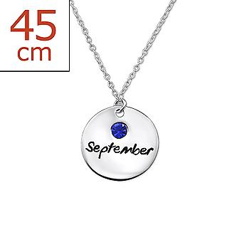 Septemberbirthstone - 925 Sterling Silver Jewelled Necklaces - W30222x