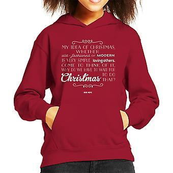 Mój pomysł dla dzieci Boże Narodzenie Bob Hope cytat Bluza z kapturem