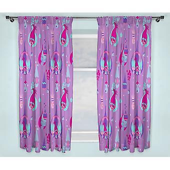 Trolls Poppy curtains 168cm x 183cm