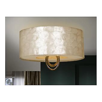 Schuller Eden Designer Gold Leaf And Nacre Larger Ceiling Lamp