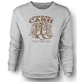 Mens Sweatshirt Johnny Cash - Walk The Line