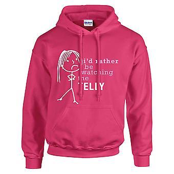 السيدات سوف يكون بدلاً من مشاهدة اختصار هوديي الساخنة الوردي هودي