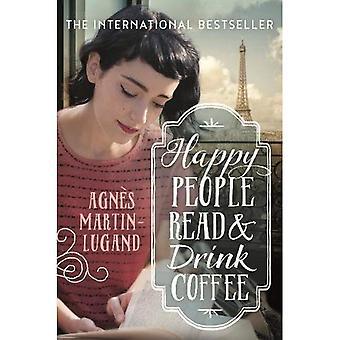 Gente felice lettura e bere un caffè