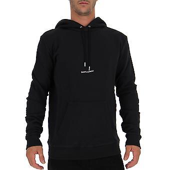 Saint Laurent 464581yb2pg1000 Men's Black Cotton Sweatshirt