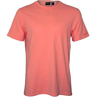 O'Neill Jacks Base Crew-Neck T-Shirt W/ Pocket, Pale Pink
