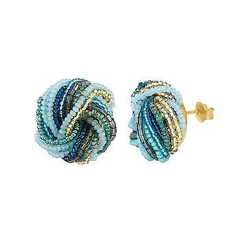 Eternal Collection Marino Murano Glass Torsade Pierced Earrings