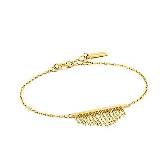 Ania Haie Gold Plated Sterling Silver 'Fringe Fall' Bracelet