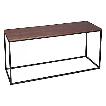 Gillmore Walnut ja Black Metal Contemporary TV Stand
