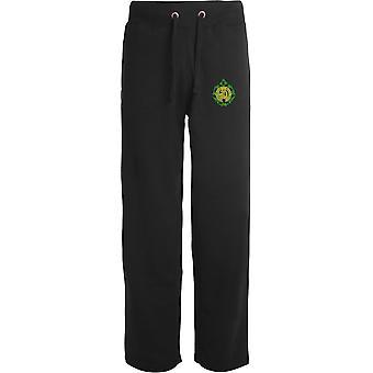 Argyll & Sutherland Highlanders - Licensed British Army Embroidered Open Hem Sweatpants / Jogging Bottoms