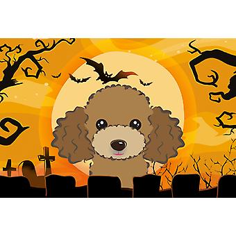 Carolines Treasures  BB1814PLMT Halloween Chocolate Brown Poodle Fabric Placemat
