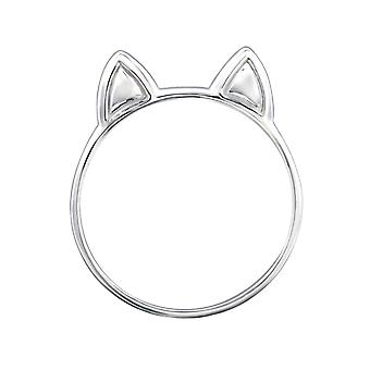 Cat - 925 Sterling Silver Plain Rings - W29260x