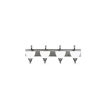 Sea Gull Lighting 4431404-57 Vitelli 4-Light Wall/Bath Bar Weathd Pewter Finish