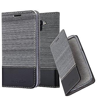 Cadorabo Hülle für Samsung Galaxy J6 2018 Obudowa - Handyhülle mit Magnetverschluss, Standfunktion und Kartenfach - Case Cover Schutzhülle Etui Tasche Book Klapp Style