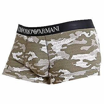 Emporio Armani Camouflage Seasonal Print Trunk, Grey Camou, Small
