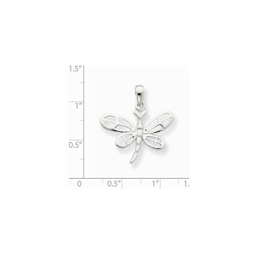 925 Sterling Silver Solid Polished Dragonfly Pendant Necklace Jewelry Gifts for Women - 1.5 Grams