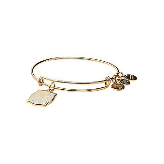 ALEX AND ANI Color Infusion Lily Charm Bangle Shiny Gold - A19EBLILY02SG