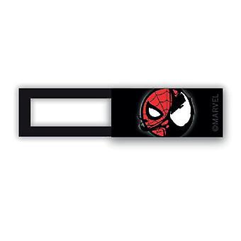 Webcam cover / schuifje  - licentie™ - Spiderman 02 - zwart