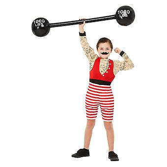 Børns drenge 1920s cirkus Strongman Fancy kjole kostume