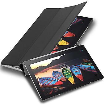 Cadorabo Cubierta de la caja para Lenovo Tab 3 10 Business (10.1&pulgadas) Funda de la caja - Caja protectora Ultra Thin Book Style con auto wakeup y función de soporte de cuero sintético