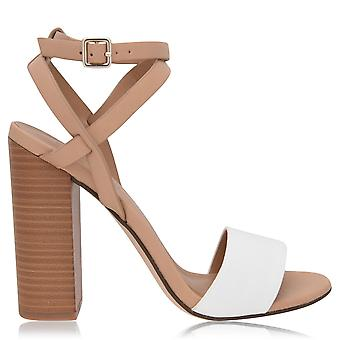 Aldo Womens Ladies Palewia Stacked Block Heel Ankle Strap Heeled Sandals Shoes