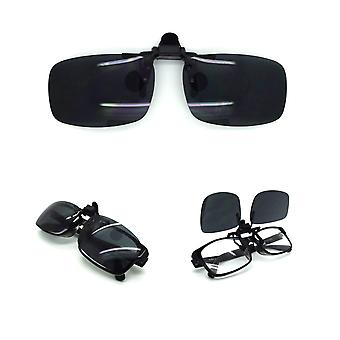 Flexible UV day night clip on flip up glasses TR10
