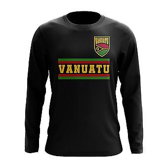 Vanuatu Core fotball Country langermet T-skjorte (svart)