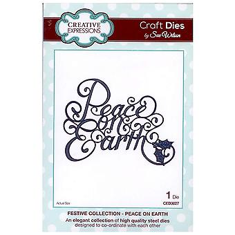 Creative Expressions Festive Collection - Peace On Earth Die Set by Sue Wilson CED3027