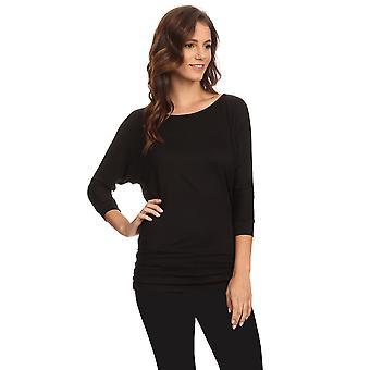 Women's Long Sleeve Shirt With Side Shirring