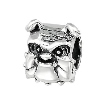 Dog - 925 Sterling Silver Plain Beads - W19986X