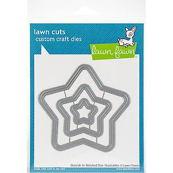 Lawn Fawn Outside In Stitched Star Stackables Dies