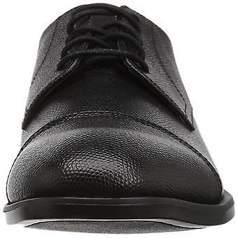 Calvin Klein mäns Conner små trumlade läder Oxford
