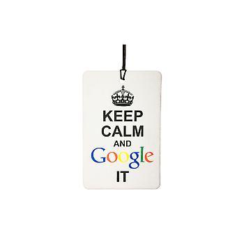 Bewahren Sie Ruhe und Google It Auto-Lufterfrischer