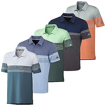 adidas Herren Ultimate Gradient Block Stripe Wicking Stretch Polo Shirt