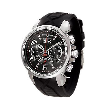 Jorg Gray Mens JG5600-21 Chronograph Watch Black Dial Silicone Strap
