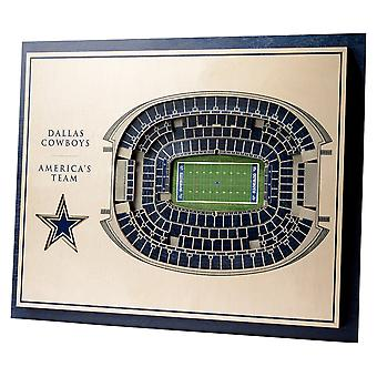 YouTheFan Wood Wall Decoration Stadium Dallas Cowboys 43x33cm
