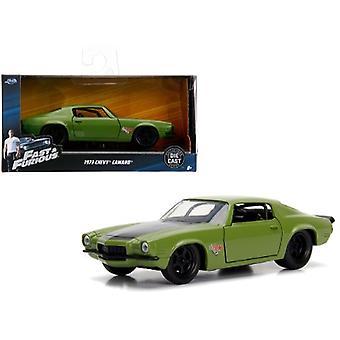 Dom'S 1973 Chevrolet Camaro F-Bomb Green Fast & Furious Movie 1/32 Diecast Model Car By Jada