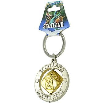 EastWest Keyring - Scotland Spinner Gold Colour Dice
