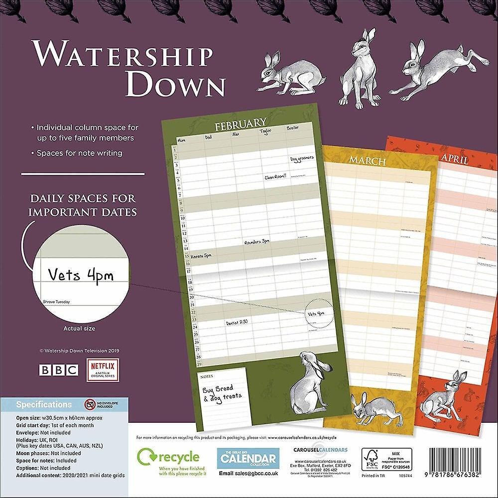 Otter House Watership Down Family Calendar 2020